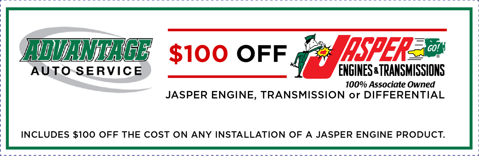 jasper engine, transmission, differnetial labor only $100 off coupon